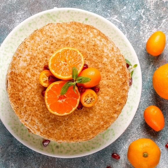 Νηστίσιμη Πορτοκαλόπιτα με Ινδοκάρυδο του Chef Στράτου Ιωσηφέλλη